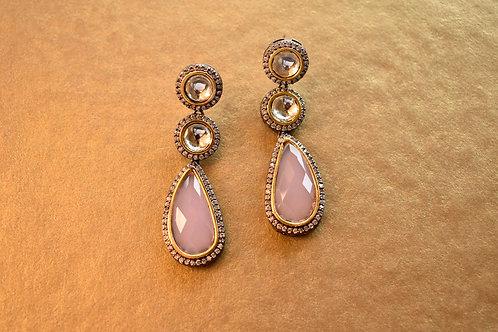 Smart Pink Indo Western Earring