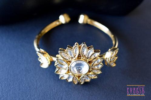 Adjustable Golden Kundan Bracelet