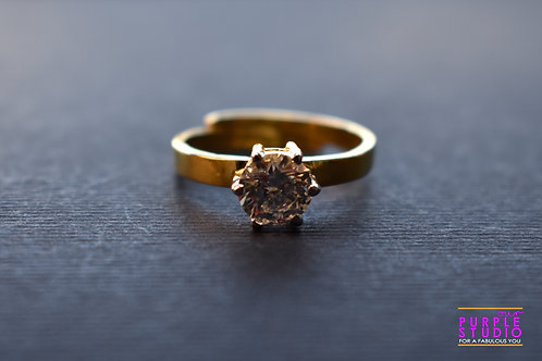 Beautiful Golden Swarovski Ring