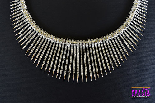 Gorgeous Indo Western AD Necklace Set