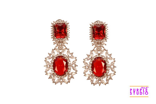 Sparkling Red Cocktail Earring