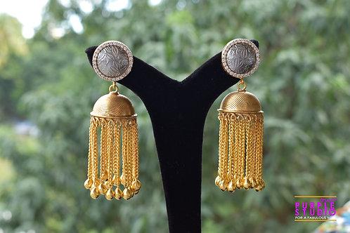 Beautiful Chandelier Earring in Dual Tone