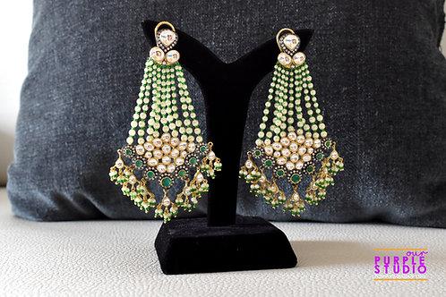 Gorgeous Green Tassel Earring