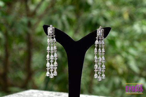 Chandelier Earrings in Rich CZ