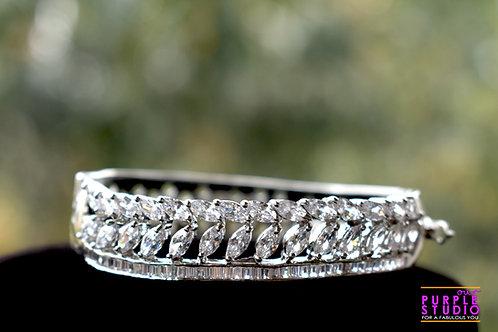 Princess Bracelet in White  CZ Stone