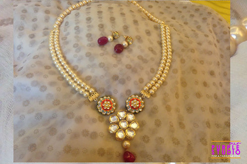 Floral Kundan Necklace Set