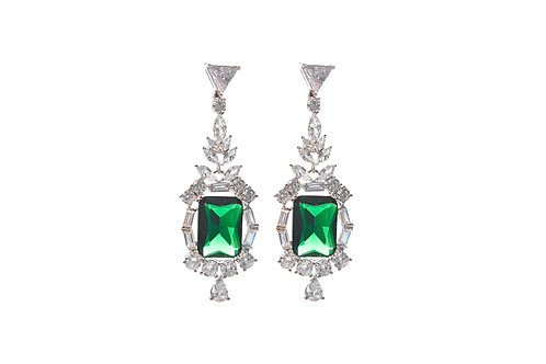 Charismatic Green Cocktail Earring