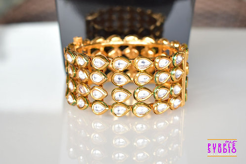 Sophisticated Four Line Kundan Bracelet
