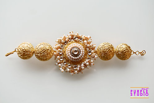 Adjustable Golden Kundan Bracelet