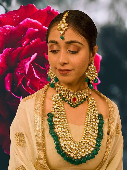 Stunning Kundan Choker  Set with Maharani Kundan Necklace