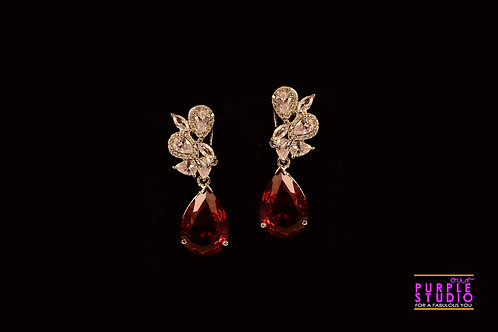 Alluring Champagne Colour Cocktail Earring
