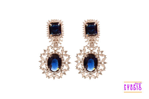 Sparkling  Blue Cocktail Earring