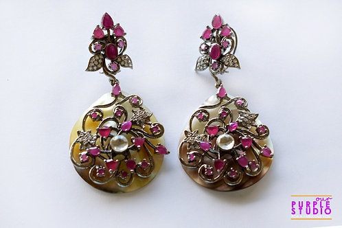 Elegant Danglers in Lovely Pink