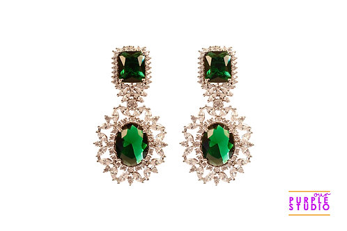 Sparkling  Green Cocktail Earring