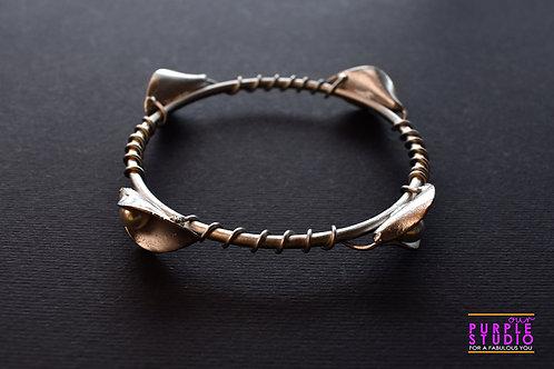 Elegant Sleek Silver Tone Mettalic Bracelet