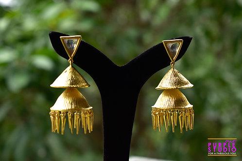 Unique Golden Jhumkas