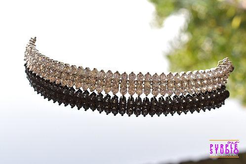Princess Adjustable Bracelet in White CZ  Stones