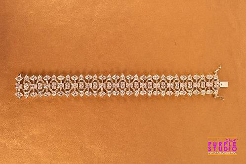 Gorgeous Bracelet in White CZ Stone
