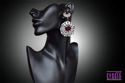 Spectacluar Designer Earring In Cubic Zirconia Semi Precious Stone