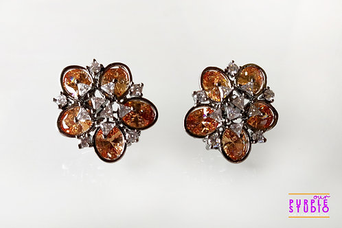 Graceful Victorian Indo Western Studs