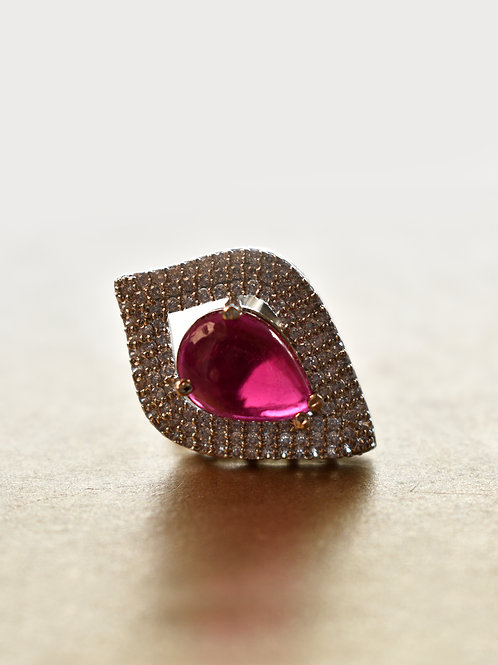 Cleopatra Love Red Cocktail Ring