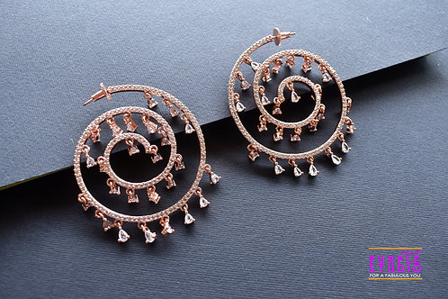 Angelic Multi Layered AD Hoops in Rose Gold Polish