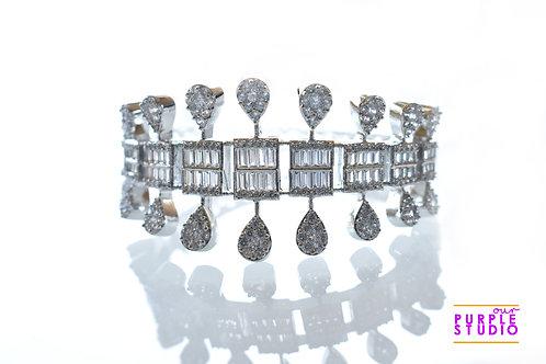 Designer Bracelet in Pure White AD Stones