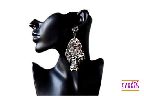 Gorgeous Double Tone  Chandbali with Jhumka