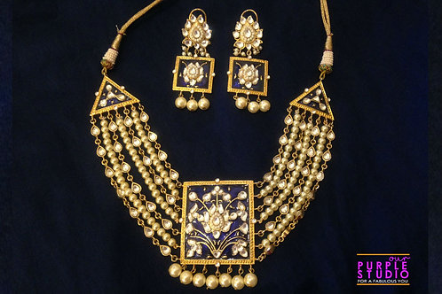 Hand Painted Timeless Treasure Necklace Set