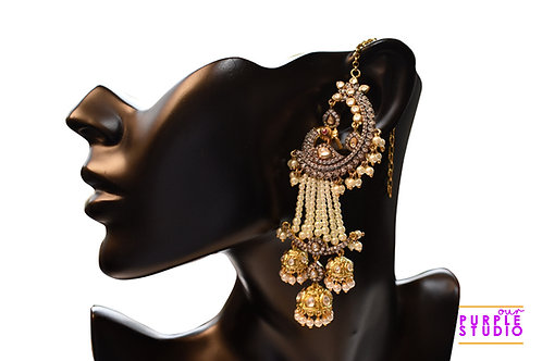 Gorgeous Antique Long Danglers with Multiple Jhumkas