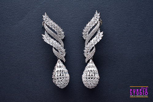 Statement  Silver Tone Earring