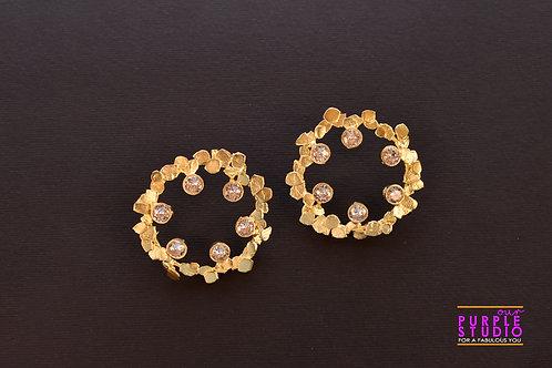 Smart Unconventional Golden Circular Danglers