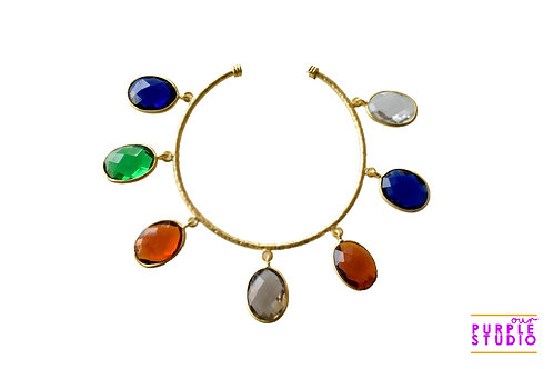 Multicoloured Rough Stone Bracelet