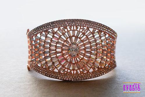 Elegant CZ Bracelet in Rose Gold Stone