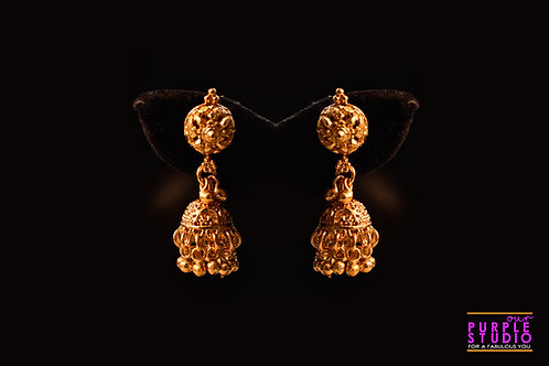 Golden Ethnic Jhumka