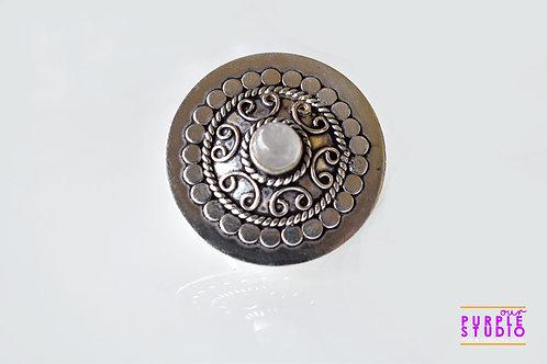 Adjustable Antique Round Ring