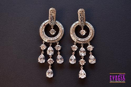 Unique Fashion Delight in Silver tone AD Stone