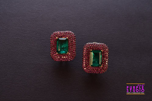 Sophisticated Pink and Green Doublet Stone