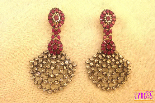 Antique Look CZ Cocktail Earring