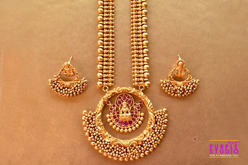 Ethereal Golden Temple Necklace Set