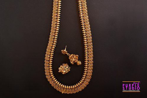 Long Golden Rani Haar Set
