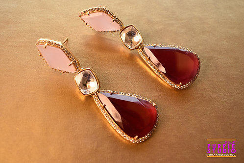 Gorgeous Danglers in Beautiful Pink