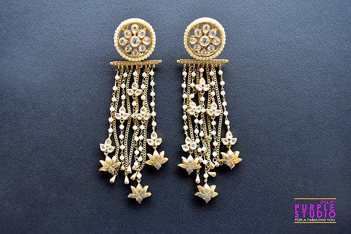 Heavy Party Wear Kundan Earring