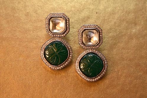 Smart Green Indo Western Victorian Look Earring