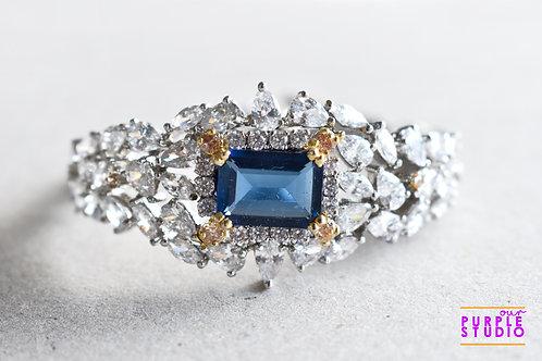 Princess Bracelet in CZ and Hydro Blue Stone