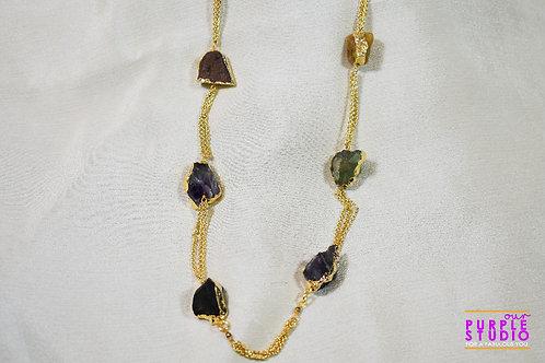 Rough stone necklace