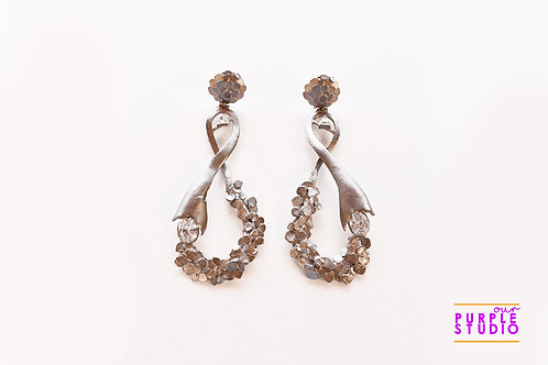Showstopper Textured Cocktail Earring in antique Polish