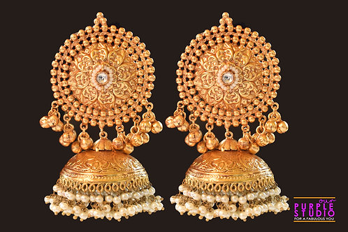 Fashion Faithful Golden Jhumka