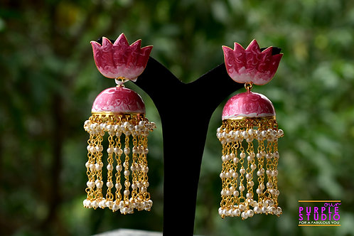 Pink Lotus Shower Earring