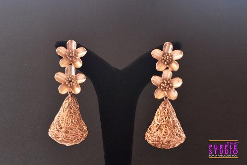 Smart Indo Western Rose Gold Danglers